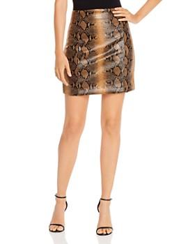 Ronny Kobo - Rida Snakeskin-Print Mini Skirt