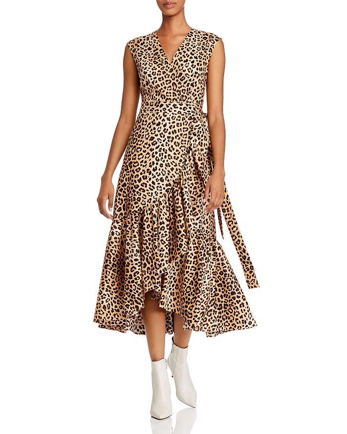 Rebecca Taylor - Sleeveless Leopard-Print Wrap Dress
