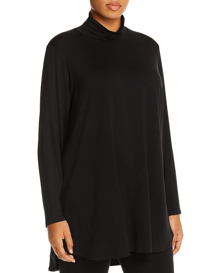 Eileen Fisher Plus - Mock-Neck High/Low Tunic Top