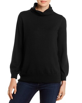 Eileen Fisher - Merino Wool Cowl-Neck Sweater