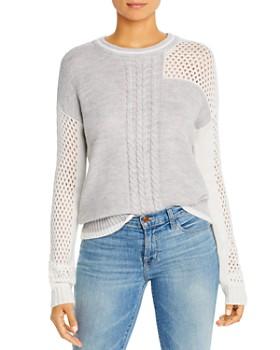 Design History - Mesh-Patchwork Crewneck Sweater