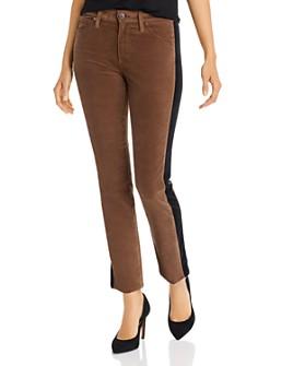 AG - Mari Tuxedo-Stripe Velvet Jeans