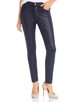 AG - Farrah Faux-Leather Skinny Jeans