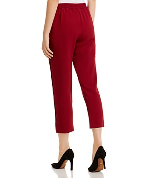 Piazza Sempione - Cropped Topstitched Side-Stripe Pants