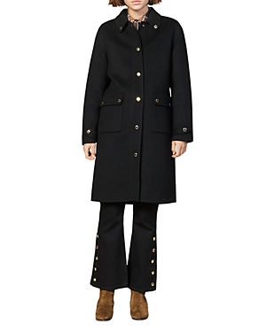 Sandro Coats DAMEEN WOOL-BLEND COAT