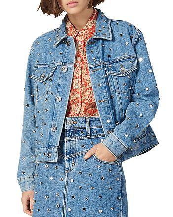 Sandro - Nelli Studded Denim Jacket