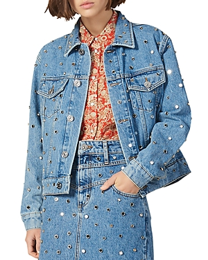 Sandro Nelli Studded Denim Jacket