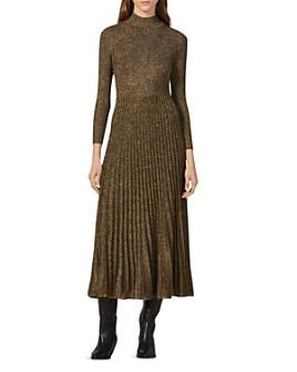 Sandro - Orane Metallic Fit-and-Flare Midi Dress