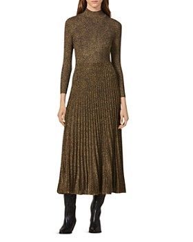 Sandro - Orane Metallic Fit-and-Flare Midi Dress