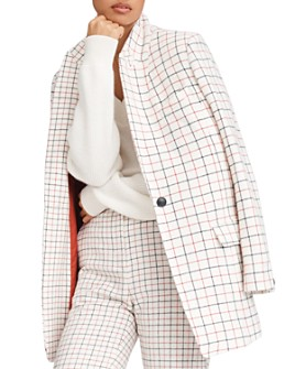 rag & bone - Nova Wool-Blend Windowpane Plaid Blazer