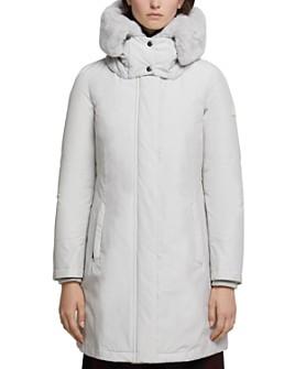 WOOLRICH - Bow Bridge Fur-Collar Down Coat