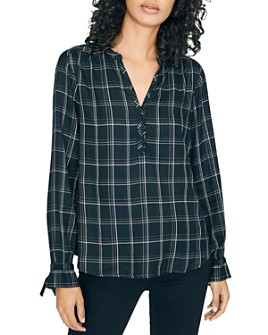 Sanctuary - Plaid Tie-Sleeve Top