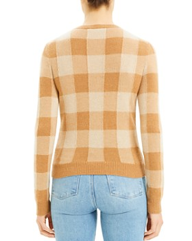 Theory - Cashmere Plaid Crewneck Sweater