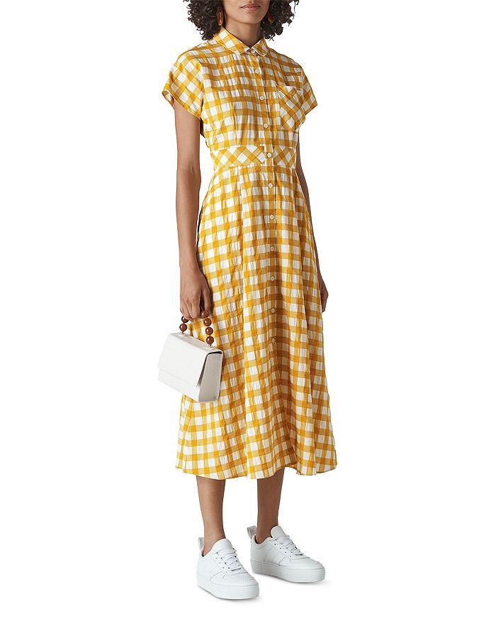 Whistles - Lucilia Checkered Shirt Dress