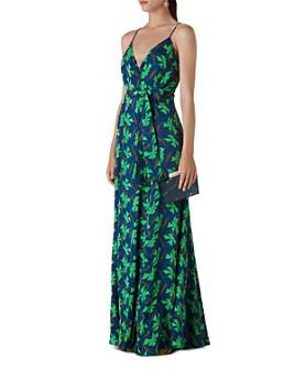 Whistles - Noa Graphic Clover Maxi Wrap Dress