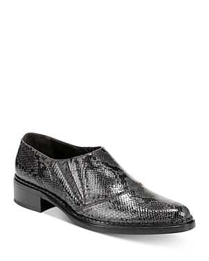 Vince Loafers WOMEN'S DELMAR SNAKE-PRINT LOAFERS