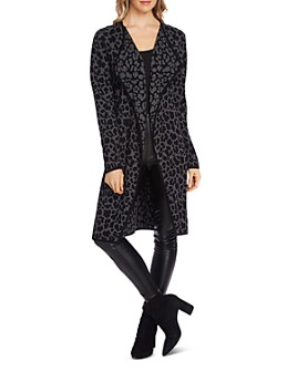 VINCE CAMUTO - Cheetah Open Duster Cardigan