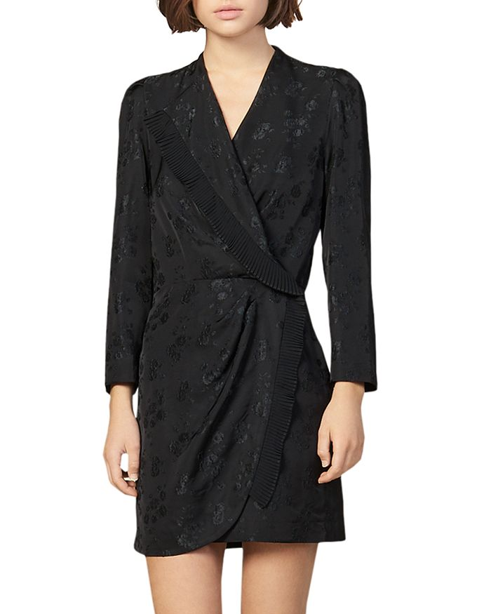 Sandro - Walls Faux-Wrap Mini Dress