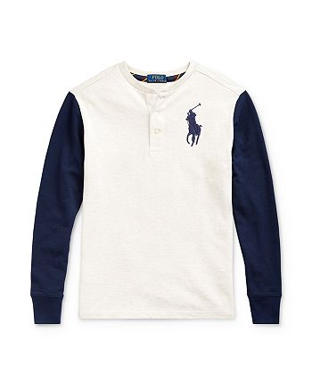 Ralph Lauren - Boys' Big Pony Henley Tee - Big Kid