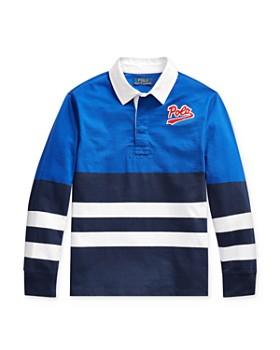 Ralph Lauren - Boys' Striped Color-Block Rugby Shirt - Big Kid