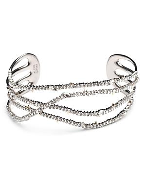 Alexis Bittar Modern Georgian Pave Orbiting Cuff Bracelet