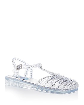 Jeffrey Campbell - Women's Jelly Embellished T-Strap Flats