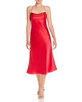 Michelle Mason - Cowl-Neck Bias-Cut Silk Midi Dress