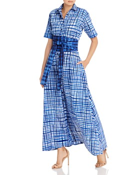 Studio One Eighty Nine - Plaid Belted Shirt Dress