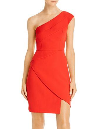 BCBGMAXAZRIA - One-Shoulder Sheath Dress