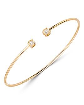 Dinh Van - 18K Yellow Gold Le Cube Diamant Bangle Bracelet with Diamonds