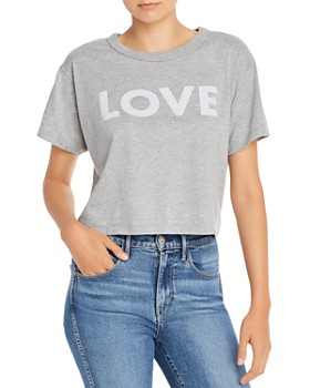 Rebecca Minkoff - Cropped Love Graphic Tee