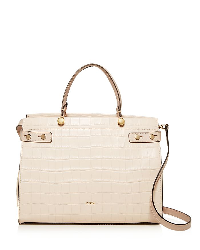 Furla - Lady Medium Croc-Embossed Leather Tote