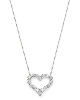 Bloomingdale's - Diamond Heart Pendant Necklace in 14K White Gold, 1.5 ct. t.w. - 100% Exclusive