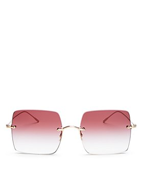 Oliver Peoples - Women's Oishe Rimless Square Sunglasses, 57mm