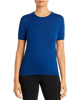 BOSS - Falyssa Virgin Wool Short-Sleeve Sweater