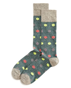 The Men's Store at Bloomingdale's - Striped Dots Socks
