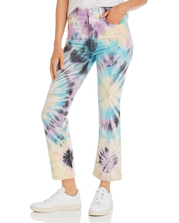 MOTHER - The Tripper Tie-Dye Kick Flare Jeans in Swirling Secrets