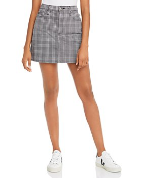 AG - Harlo Mini Skirt in Black/White Houndstooth