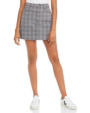 Ag Harlo Mini Skirt in Black/White Houndstooth-Women
