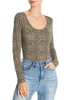 Levi's - Josie Cheetah-Print Logo Bodysuit
