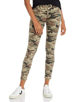 Hudson - Barbara High Rise Ankle Skinny Jeans in Worn Camo