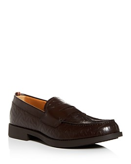 Burberry - Men's Emile Embossed-Leather Penny Loafers