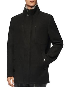Andrew Marc - Westerall Rabbit Fur Collar Coat