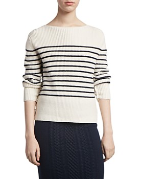 ATM Anthony Thomas Melillo - Wool-Blend Striped Boat-Neck Sweater