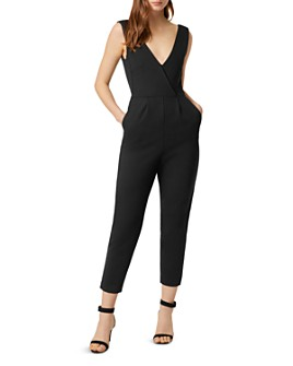 FRENCH CONNECTION - Marie Cropped Tapered V-Neck Jumpsuit