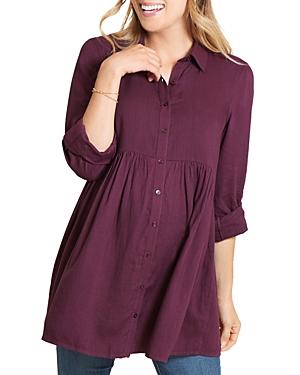Peplum Maternity Shirt