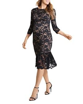 Ingrid & Isabel - Lace Flounce-Hem Maternity Dress