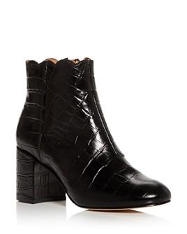 Andre Assous - Women's Selena Croc-Embossed Block-Heel Booties
