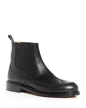 Clergerie - Women's Rachel Brogue Wingtip Chelsea Boots