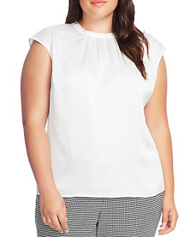 VINCE CAMUTO Plus - Cap-Sleeve Shirred Top